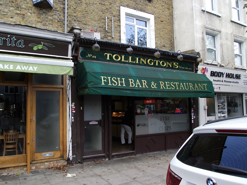 LEASE FOR SALE, Tollington's Fish Bar & Restaurant, Stroud Green, North London . Ref:1718